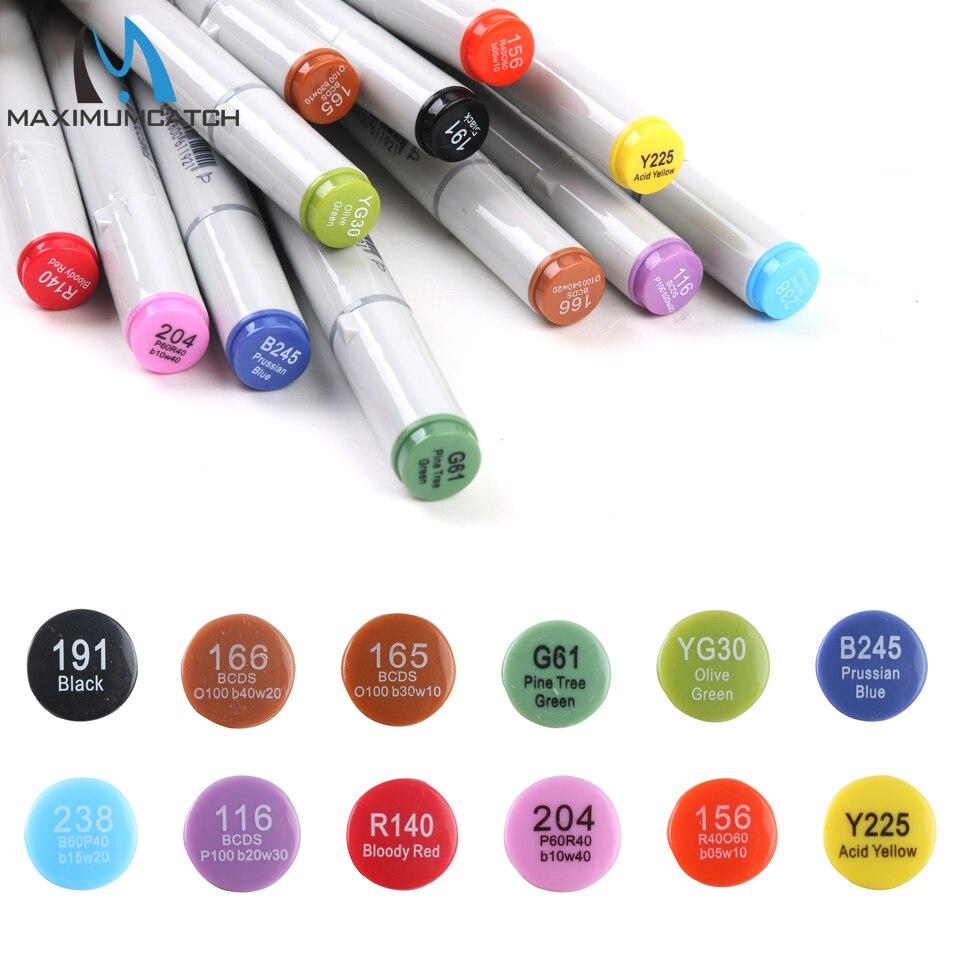 Maximumcatch 12 couleurs imperméable à leau mouche attachant marqueur Double tête résistant aux UV mouche attachant outil