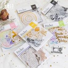 20 pièces/paquet bricolage mignon Kawaii dessin animé autocollant collant Scrapbook papier pour la décoration de la maison journal portable calendrier