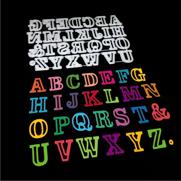 26pcs/set Alphabet Letter Cutting Dies Metal Scrapbooking Embossing Stencil Die Craft for DIY Cards Album Book Decoration Diecut