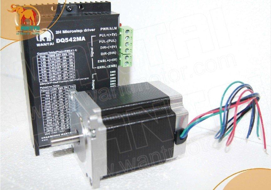 Wantai Nema23-محرك متدرج عالي الجودة ، عمود واحد 57BYGH420 ، 127 أونصة ، محرك DQ542MA 4.2A 50V 125 ، طابعة ثلاثية الأبعاد صغيرة Makerbot