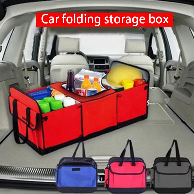Organizador de maletero de coche caja de almacenamiento plegable antideslizante Auto almacenamiento de carga contenedor juguetes de almacenamiento de alimentos bolsa de almacenamiento de coche