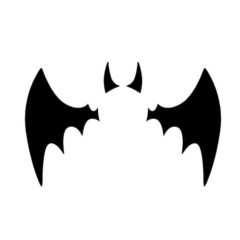 11*6,7 CM Batman Logo de murciélago reflectante adhesivo de coche personalizado coche pegatinas cubre arañazos para Volkswagen negro plata # B1327