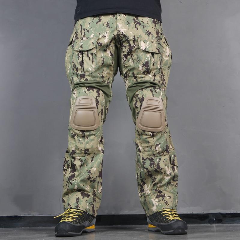 Emerson G3 pantalones de combate táctico BDU militar ejército Airsoft pantalones de guerra AOR2 EM7049