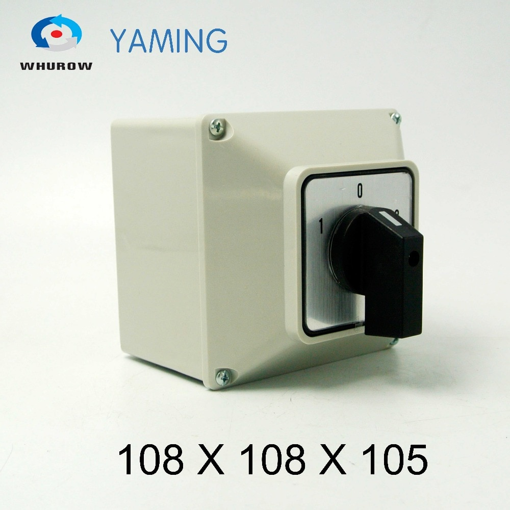 Yaming-interruptor rotativo de cambio de YMW26-32/1M, 32A, 1 polo, 3 posiciones, con...