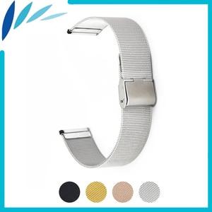 Milanese Stainless Steel Watch Band 16mm 18mm 20mm 22mm 24mm for Baume & Mercier Hook Clasp Strap Wrist Loop Belt Bracelet