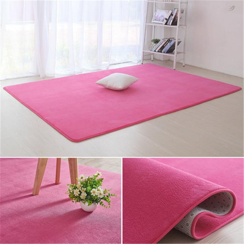 Alfombra Lisa De terciopelo coral espesada antideslizante alfombra de sala de estar café Cobija para mesa cojín para dormitorio mesita de noche estera de yoga
