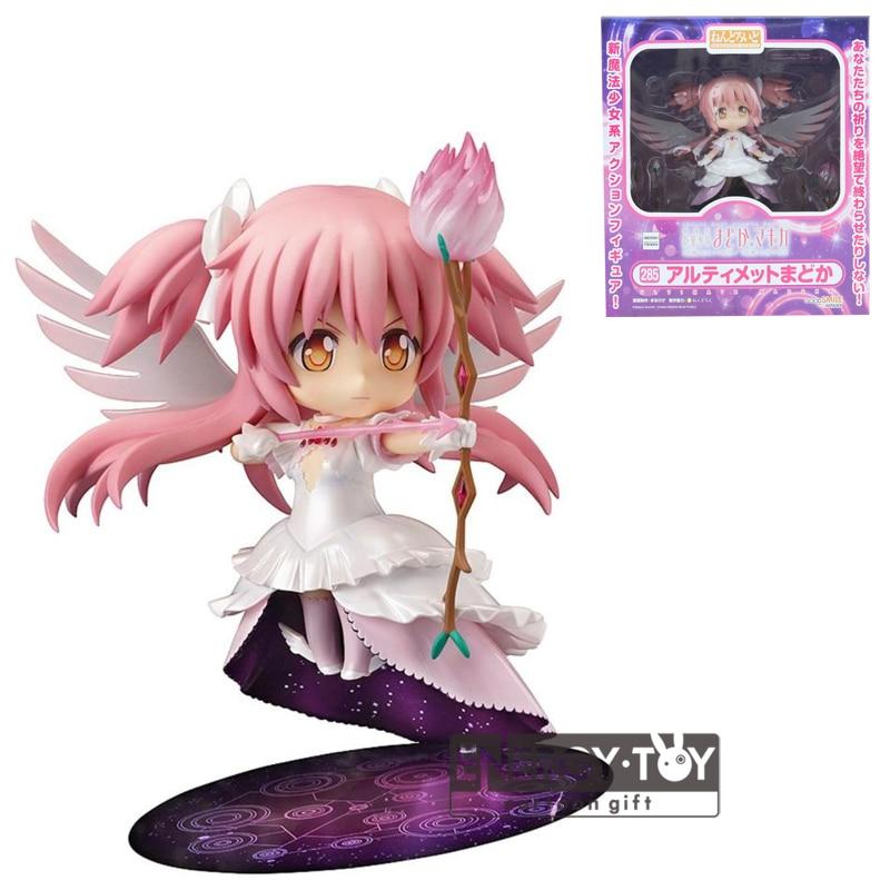 """285 anime Puella Magi Madoka Magica kaname Madoka linda menina PVC Action Figure modelo coleção Toy 5 """" na caixa Q ver .. Boneca"""