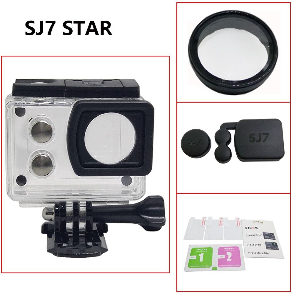 Aplicable a SJCAM SJ7 accesorios filtro de vidrio UV lente + tapa de lente SJ7 estrella impermeable shell bajo el agua 30M buceo shell