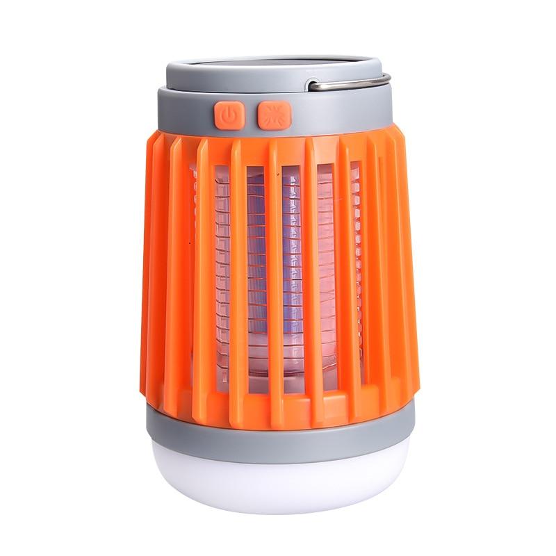 3.7V LED USB Solar Mosquito Killer Lamp Bulb Dispeller Repeller Electric Bug Insect Zapper Pest Trap Light Outdoor Camping
