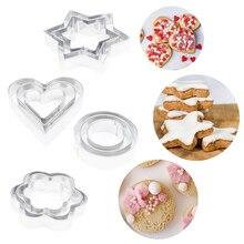 Moule étoile en métal en forme de cœur   Coupe-biscuits en forme de cœur, outil de décoration de gâteaux, outils de cuisine, savon au chocolat, pochoirs de gâteaux 12 pièces/ensemble