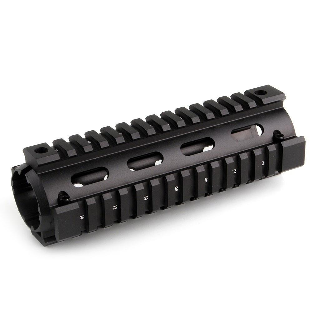 vector optics 12 inch ras free float handguard quad picatinny rail onepiece 223 5 56 extended carbine length a2 style Magorui Two-piece Design 4/7/9 Carbine Length Free Float Drop-in Quad Rail Handguard For AR15 Rifle
