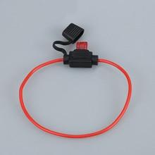Support de la boîte à fusible en caoutchouc   Moto étanche, support de la boîte avec câble et petit fusible 5A ATC ATO 2 pièces