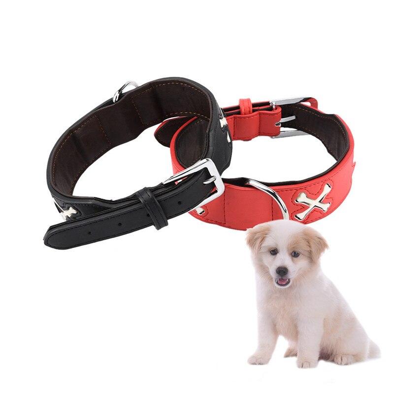 Ajustable hueso intermitente noche Luz de seguridad bien PU luminosa Collar/mascota mediana collares de perro para mascotas Decoración