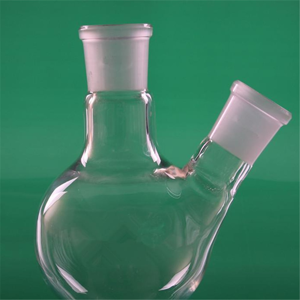 5000ml,40*24,2-neck,Round bottom Glass flask,Lab Boiling Flasks,Double neck laboratory glassware 1pc 100ml 24 29 1 neck round bottom glass flask single neck lab boiling bottle