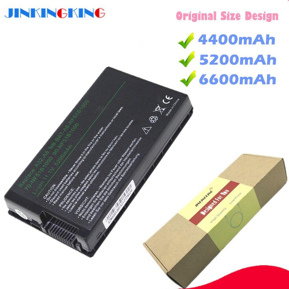 4400 mAh células de Bateria para ASUS A32-A8 6 A72DY A8Z F8 F8S A8A F8Sa Z99J A8E A8F A8Fm F8V A8H a8H X80 X80H A8Jv X80L A8M X80N
