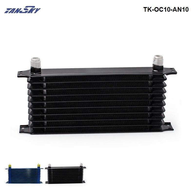 Motor de aluminio 10AN de 10 filas/enfriador de aceite de carreras de transmisión para coche/camión TK-OC10-AN10