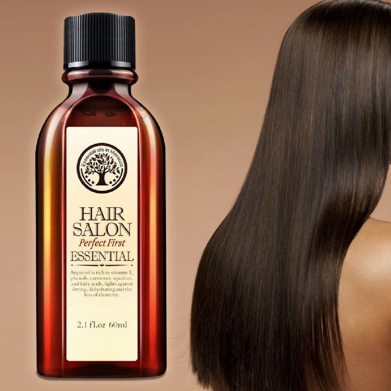60ml Hair & Scalp Care Essential Oil Treatment for Moisturizing Soft Hair Pure Argan Oil Dry Hair Re