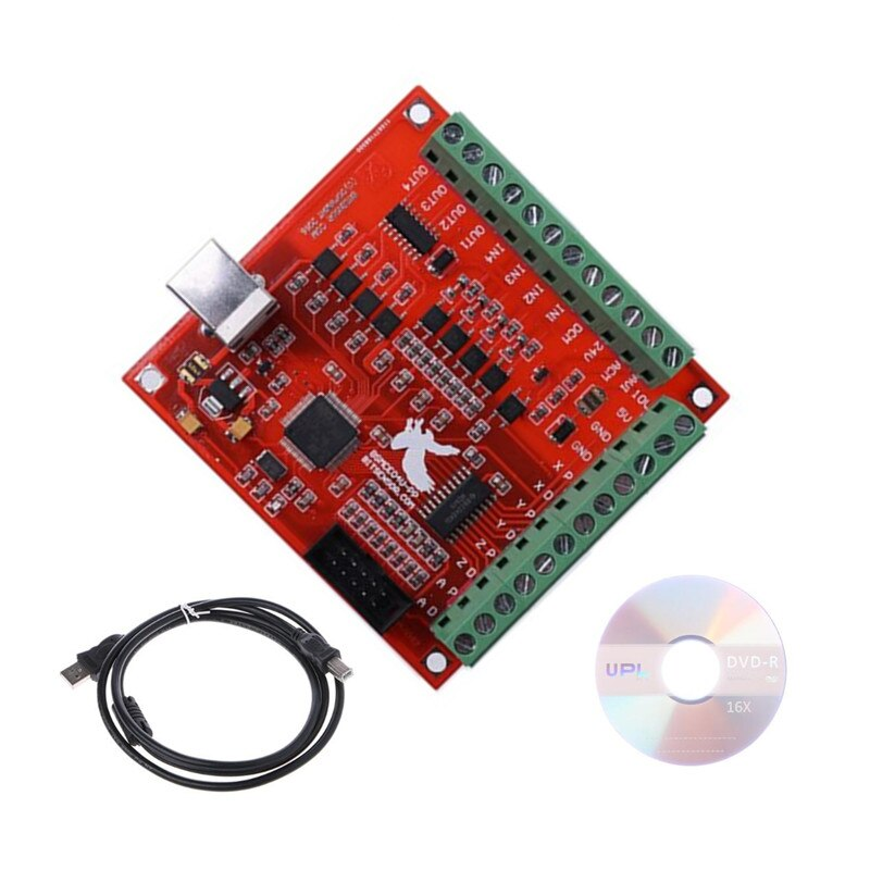 MACH3 4 Axis 100KHz USB CNC Smooth Stepper Motion Controller card breakout board for Engraving 12-24V