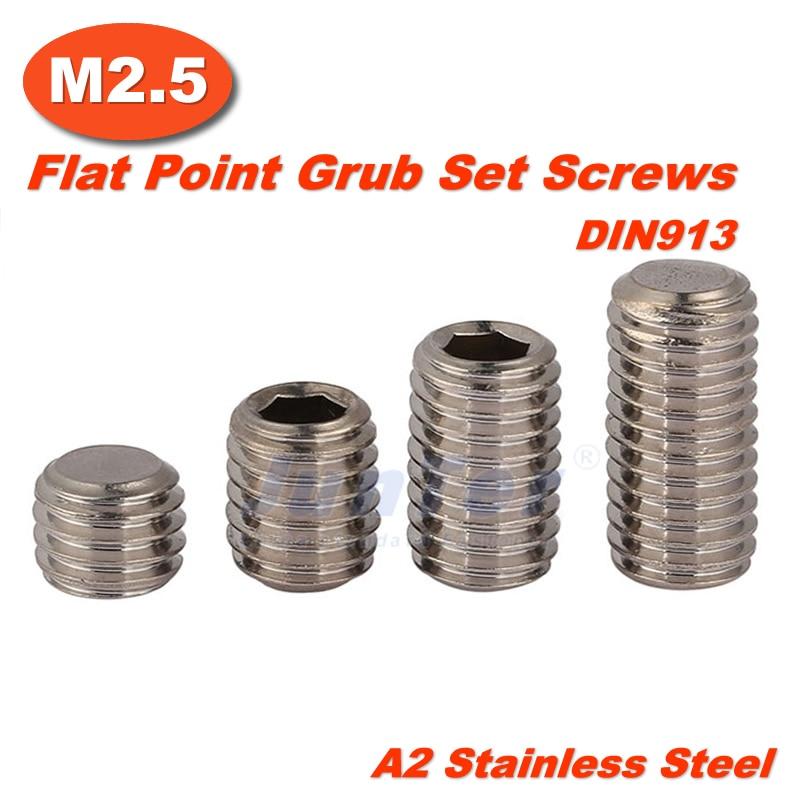 1000 قطعة/الوحدة M2.5(2.5 مللي متر) A2 الفولاذ المقاوم للصدأ شقة نقطة اليرقة عرافة مقبس مجموعة مسامير DIN913