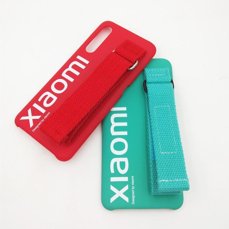 Original Xiaomi Mi 9 9se Case Hard Case PC Wrist strap bracket Cover Protector Minimalism Polyester Back Cover Case For Mi9 9 se