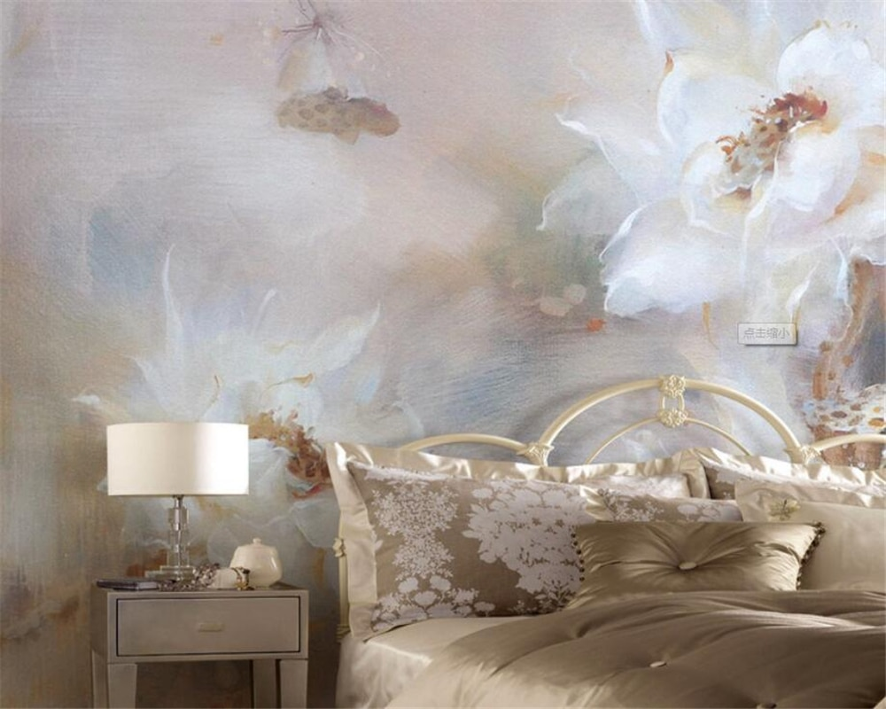 Обои для гостиной, спальни, с цветами, 3 d