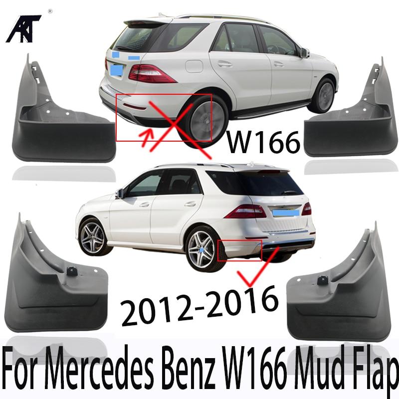 Guardabarros guardabarros para Mercedes Benz W166 Guard Mup guardabarros delantero trasero moldeado ML350 ML400 ML 350 400 2012-2016
