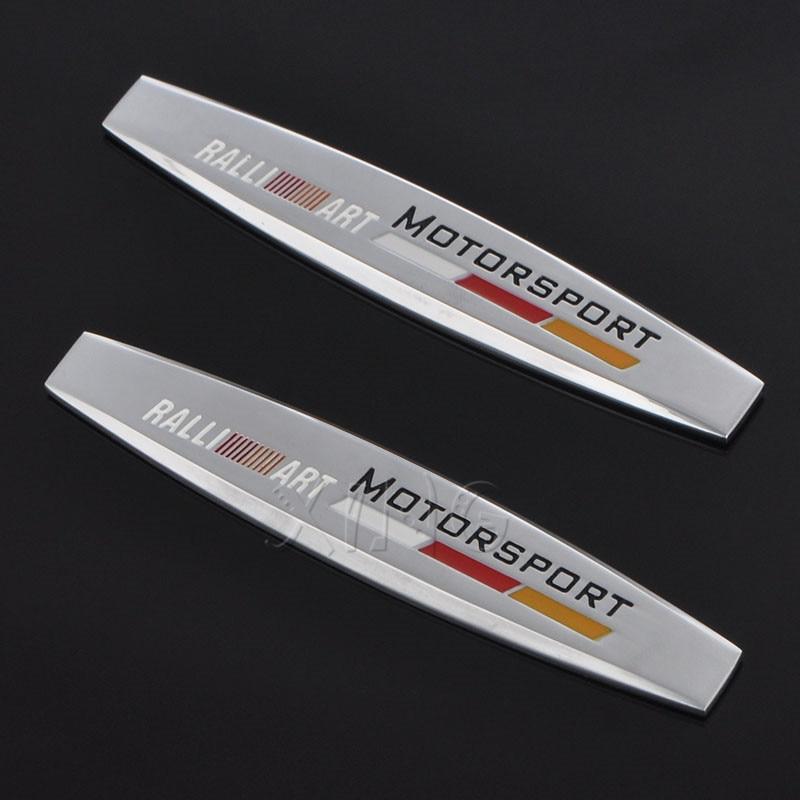 Moda adesivos de carro decalque auto emblema emblema ornamento para mitsubishi ralli arte lancer asx pajero outlander 3 2008 colt montero