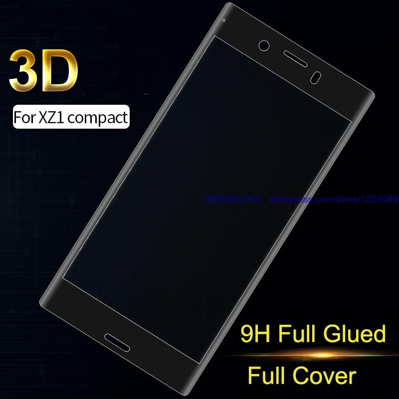 3D закаленное стекло полное покрытие полностью склеенный Мягкий край протектор экрана для SONY Xperia XZ1Compact