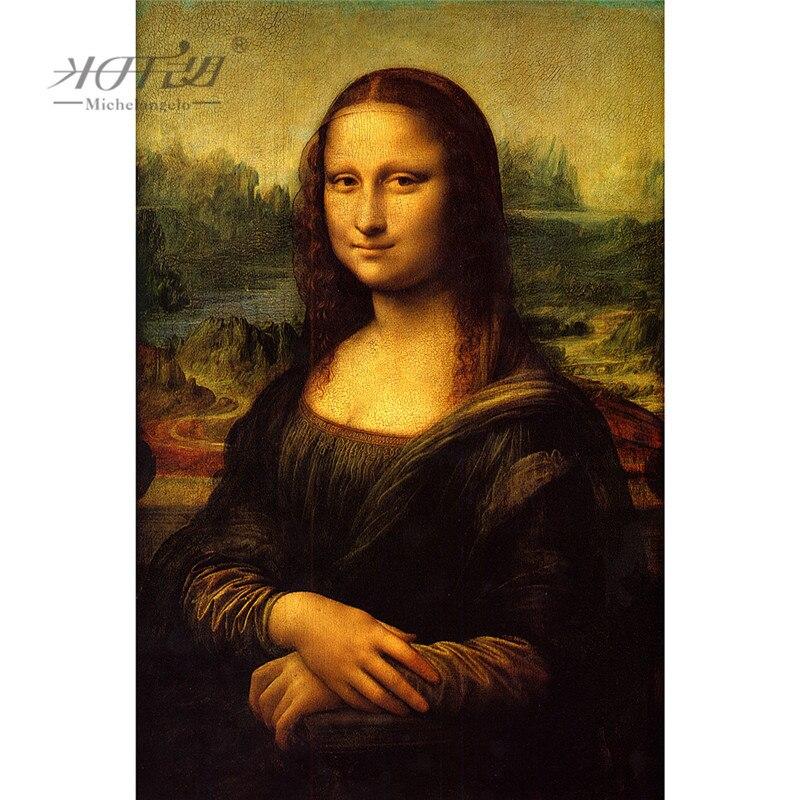 Rompecabezas de madera Michelangelo 500 1000 1500 2000 pieza Mona Lisa de Leonardo Da Vin pintura arte juguete educativo decoración del hogar