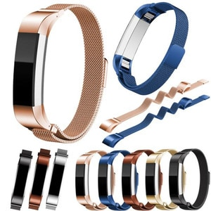 New High Quality 12mm Milanese Magnetic Loop Stainless Steel Customized Band For Fitbit Alta Smart Watch Correa Reloj Wholesale
