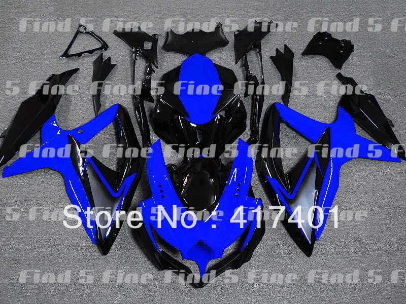 Blau schwarz für GSX R600 R750 08-10 GSXR 600 750 GSXR600 GSXR750 GSX-R600 GSX-R750 08 09 10 2008 2009 2010 motorrad körper kit