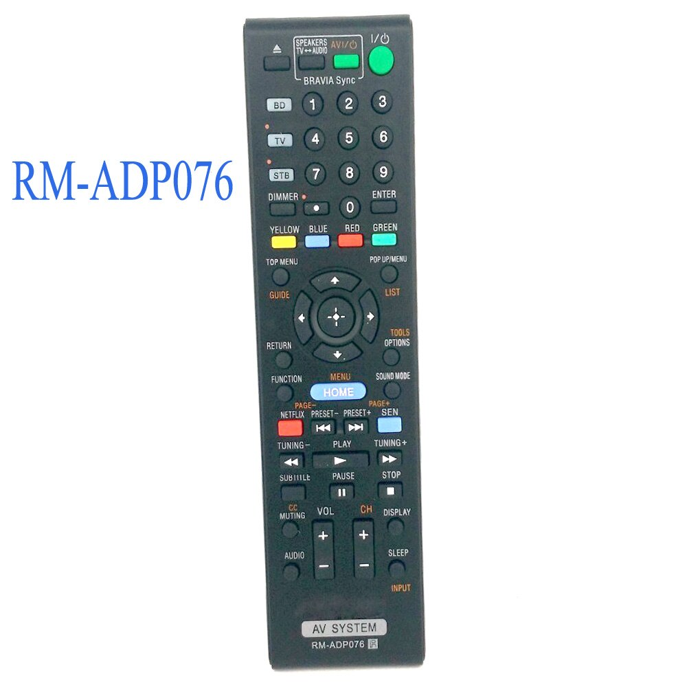 New Replacement Remote Control RM-ADP076 Fit For Sony AV SYSTEM BDVN890W RM-ADP074 RM-ADP072 BDV-E470 new rm sdrmv150a replacement for jvc dvd rm sdrmv150a rm sdrmv100a drmv80b drmv150 drmv100b drmv7 drmv77s dvd remote control