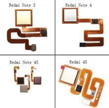 اللمس Id المنزل زر العودة لوحة المفاتيح ل Xiaomi Redmi NOTE4 Redmi 4X Note3 NOTE4X بصمة ماسحة كابل استشعار مرن