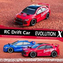 Гоночный автомобиль EVO evolation X Subaru, 2,4G, 4 канала, дистанционное управление, высокая скорость 30 км/ч, 4WD, гоночный автомобиль
