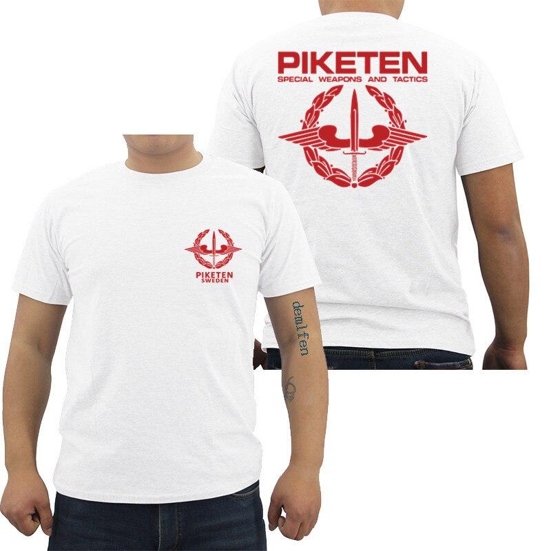 Suécia autoridade policial sueca swat resgate de reféns prisões de alto risco motim controle do exército dos homens t camisa masculina de algodão camisetas topos