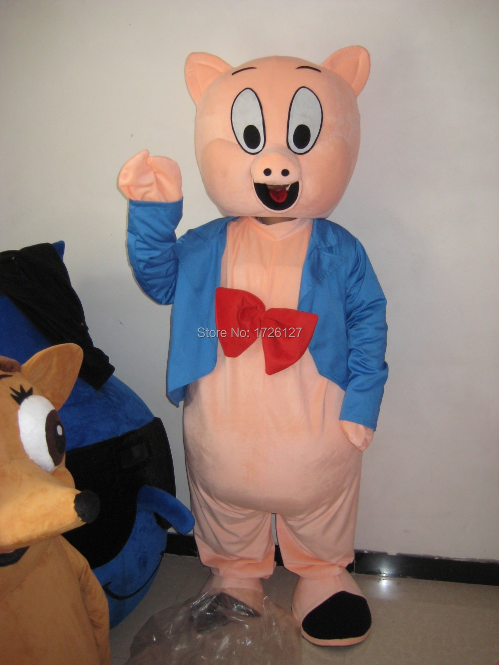Porky Pig التميمة زي شخصية كرتونية بدلة فاخرة مخصصة أنيمي تأثيري mascotte الكرتون موضوع فستان بتصميم حالم كرنفال