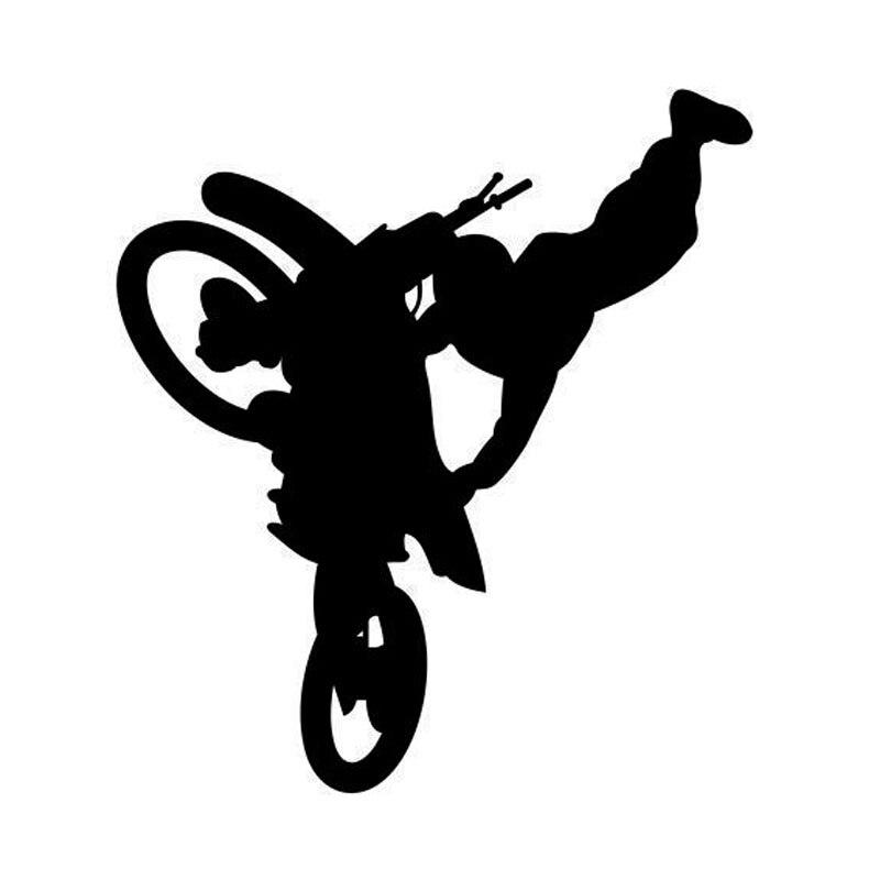 10.6*11,9 CM Freestyle Motocross Personalisierte Auto Aufkleber Spaß Vinyl Fenster Aufkleber Schwarz/Splitter C7-1349