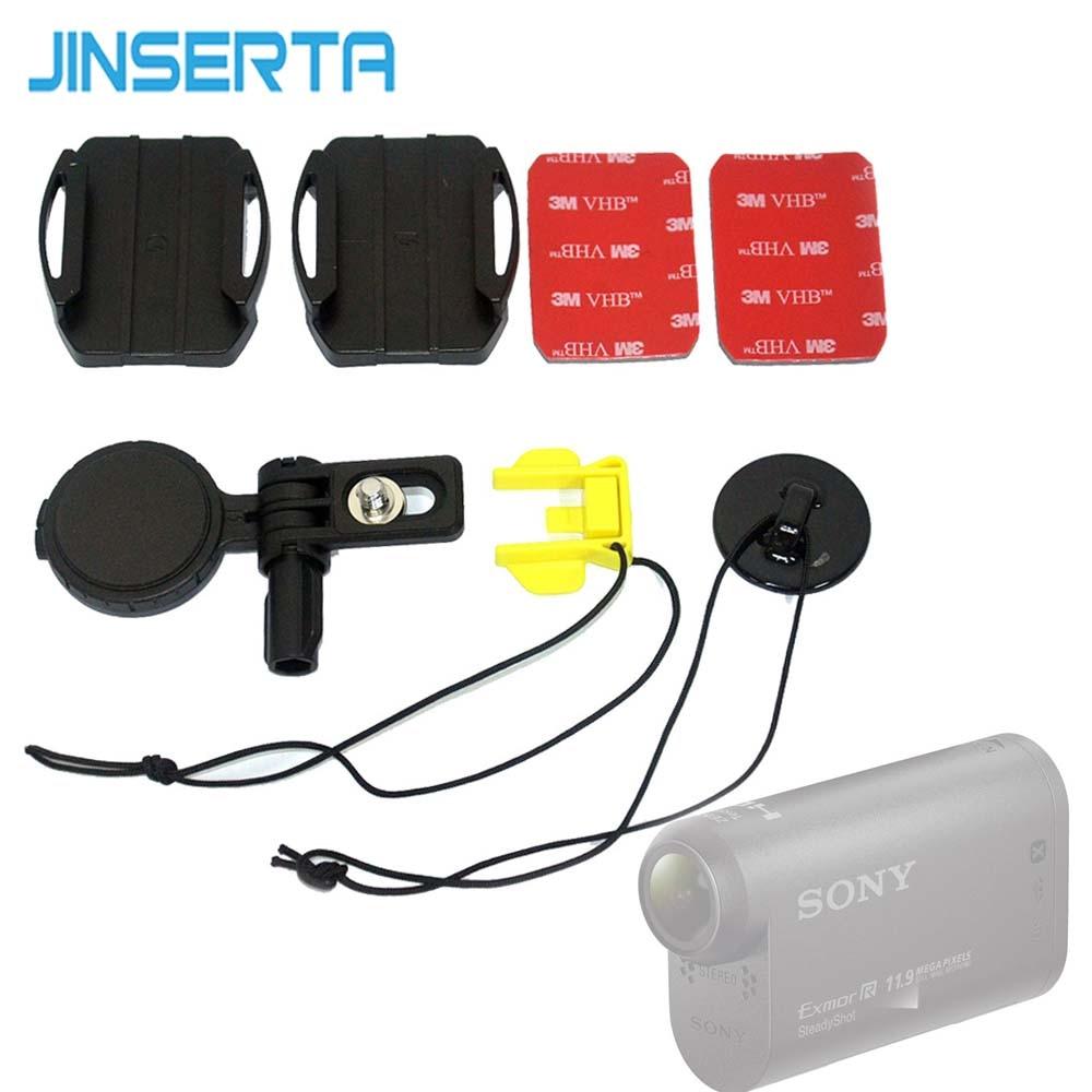 JINSERTA Capacete Acessórios Kit para Câmera Sony HDR-AS200V HDR-AS300 AS30V AS100V AZ1 AS15 AS20 AS50 VCT-HSM1
