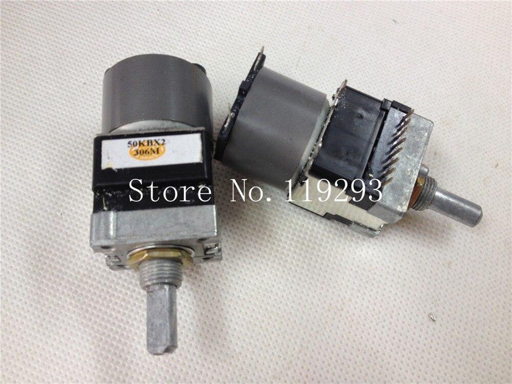 [BELLA]Original Japanese ALPS RK16812MG04YM motor double potentiometer 15MM shaft B50K*2 B50KX2--5PCS/LOT