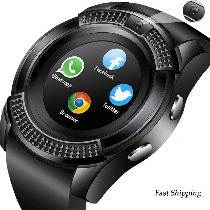 Sport Smart Watch Men Women Bluetooth SmartWatch Touch Screen Wrist Watch with Camera/SIM Card Slot, Silicone Smart Wrist