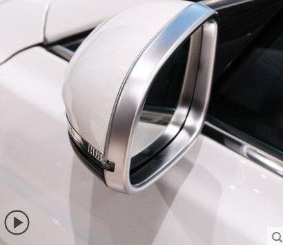 Cubierta de marco decorativo cromado ABS para espejo retrovisor 2 uds para Jaguar XE 2015-18/XF 2011-18/XJ 2010-16 estilo de coche