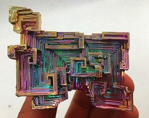 perfect!!!!!!!!! 200-230g  Natural rainbow color German bismuth crystal specimen.