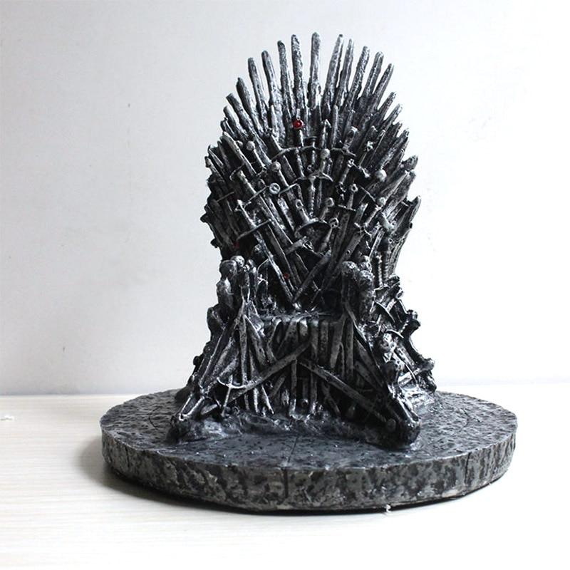 Estatua del Trono de Hierro figura de acción coleccionable modelo película y TV juguete para regalo 16cm