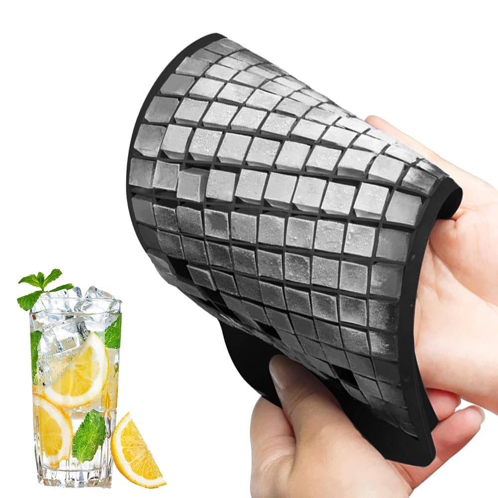 160 Grids Silicone Ice Cube Tray Small Square Ice Maker DIY Small Ice Cube Mold  Kitchen Accessories