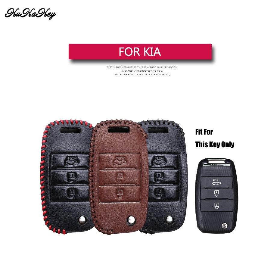 Echtes Leder Flip Folding Auto Schlüssel Fall Abdeckung Für Kia Rio K2 K3 K5 Bongo Sorento Seele Sportage schutz Shell tasche Für KIA
