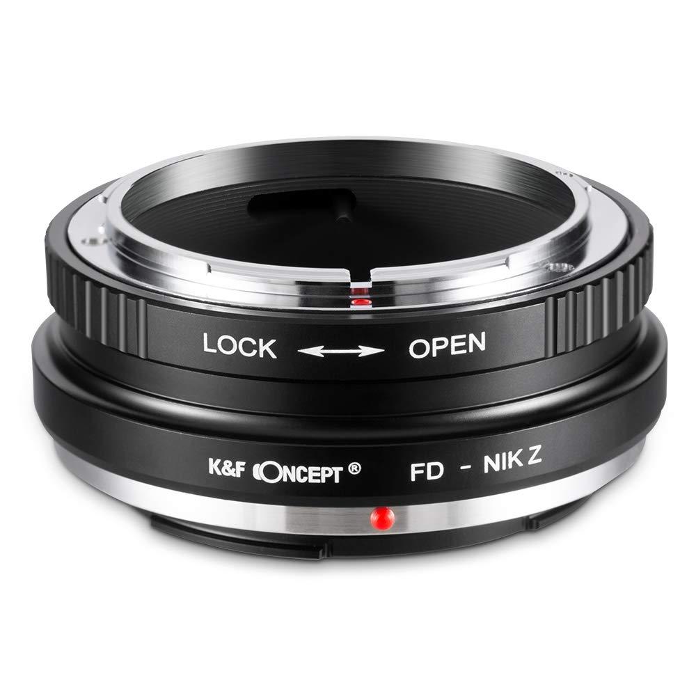 K & F Conceito Lente Adaptador de Montagem para Canon FD FL Lente para Câmera Nikon Z6 Z7