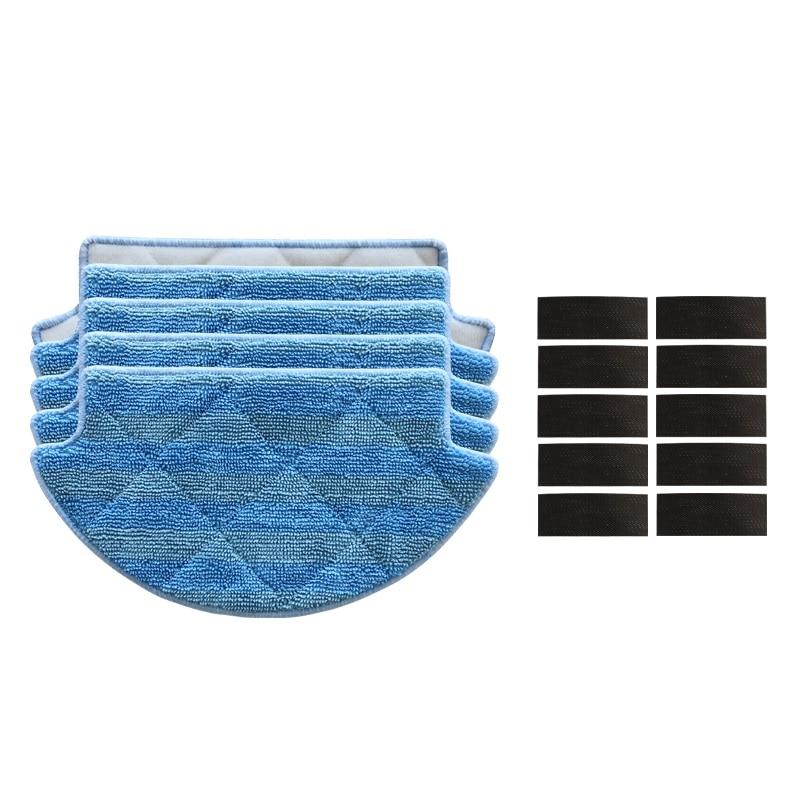 15pcs/lot Mop Cloths Pads magic paste for Xiaomi Robot Vacuum Cleaner Parts mop cloths robotic vacuum cleaner mi robot accessory