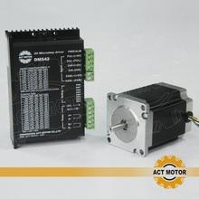 AGIR 23HS8630 Único Eixo 6-liderança Nema23 Motor de passo Do Motor 1 PC oz-in 76mm 3A + 1 PC Driver DM542 4.2A 50 V 128 Micro EUA DE livre