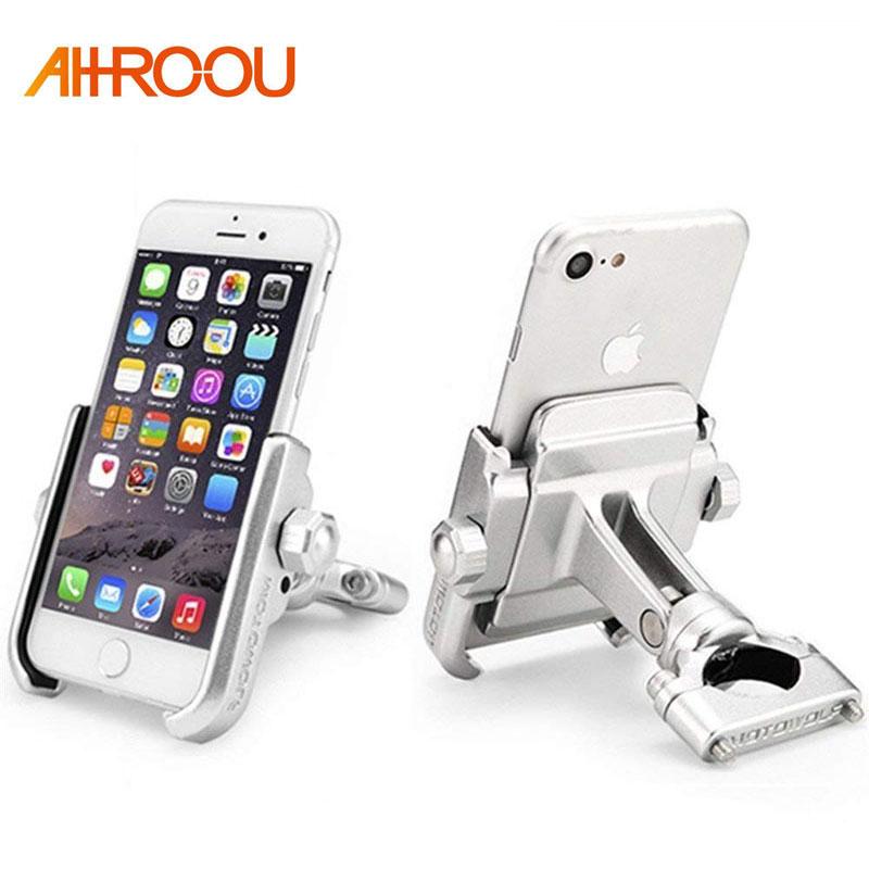 Soporte Universal de aleación de aluminio de teléfono para motocicleta para iPhoneX 8 7 6s soporte de teléfono para Moto para GPS soporte de manillar de bicicleta