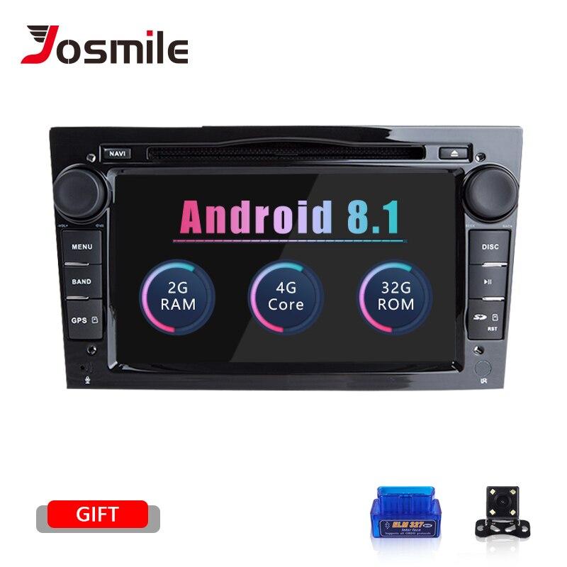 Josmile 2 Din Android 8,1 AutoRadio DVD Multimedia para Opel Vectra C Zafira B Vivaro Astra H G Corsa C D MerivaAntara navegación